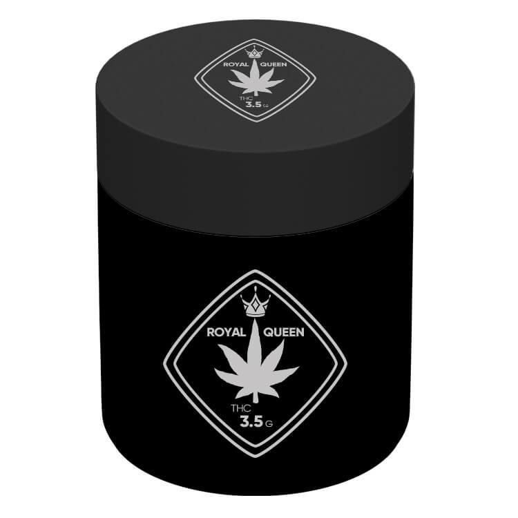 matte black 3 oz jar with logo