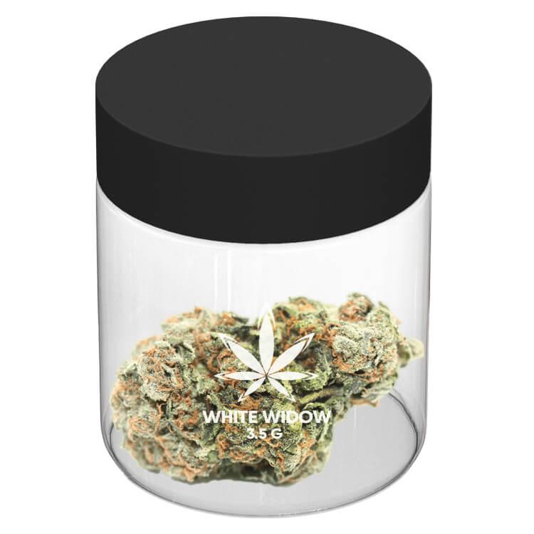 cannabis 3 oz jar with logo