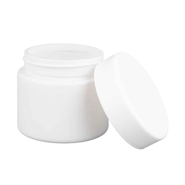weed 2 oz white matte jar