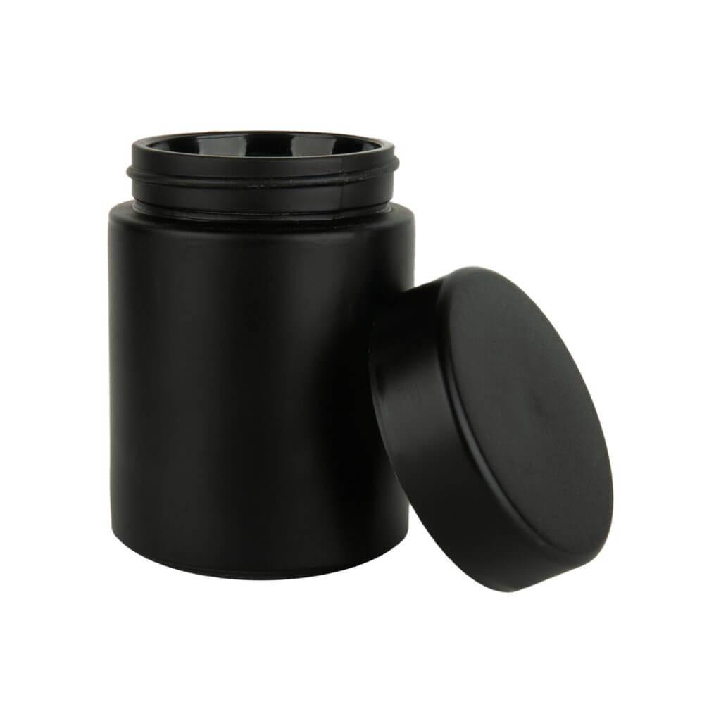 4 oz matte black cannabis jar in bulk