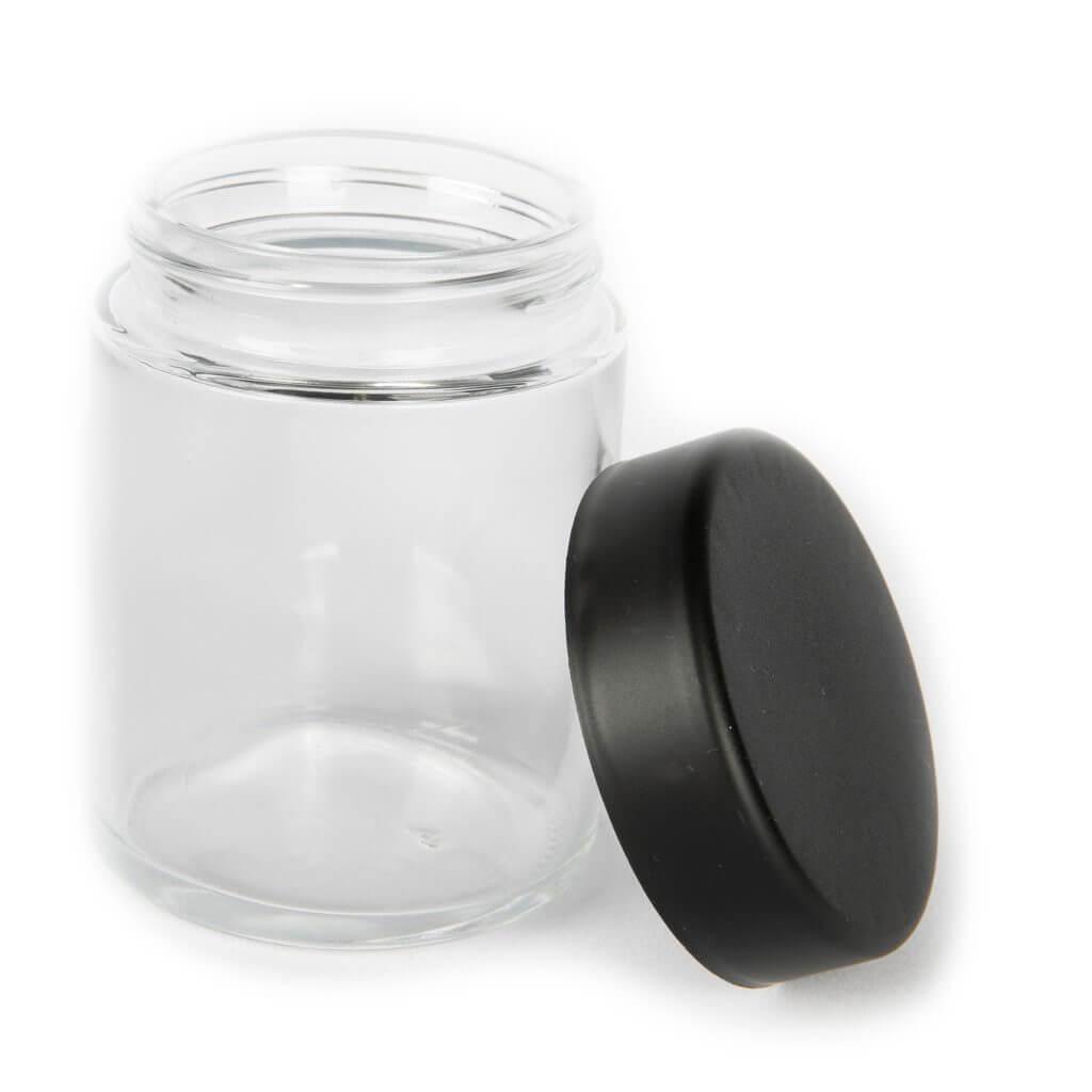 Clear marijuana jar 4oz template
