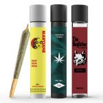 pre roll glass tubes with sticker