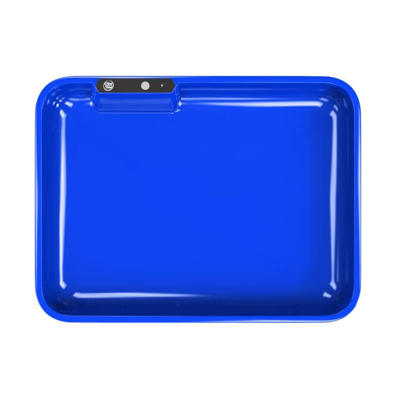 blue led glow rolling tray template