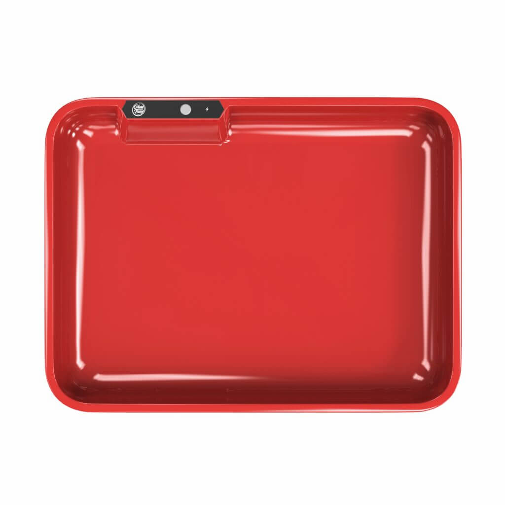 red led glow rolling tray template