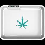 custom white glow tray with logo