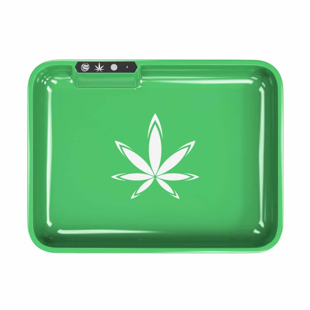 green led light tray with logo