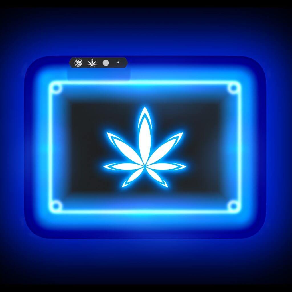 custom led glow light rolling tray