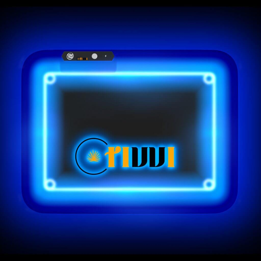 led rolling tray with logo